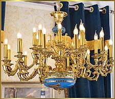 Antique Crystal Chandeliers Model: FS-9033-24