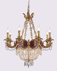 Antique Crystal Chandeliers Model: FS-9091-8