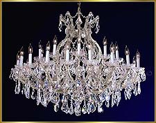 Maria Theresa Chandeliers Model: ML-1075CH