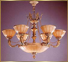 Alabaster Chandeliers Model: RL 1201-80
