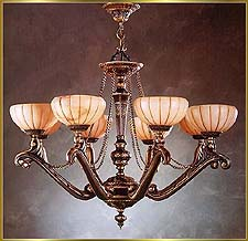 Alabaster Chandeliers Model: RL 1301-82
