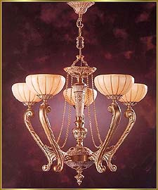 Alabaster Chandeliers Model: RL 1302-72