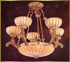 Alabaster Chandeliers Model: RL 1304-62