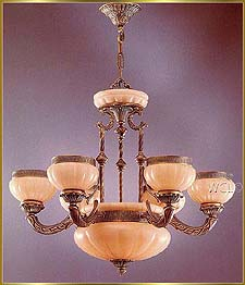 Alabaster Chandeliers Model: RL 1334-75