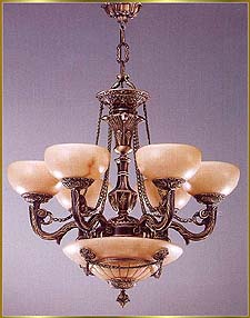 Alabaster Chandeliers Model: RL 384-74