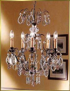 Bronze Crystal Chandelier Model: BB 3324-5